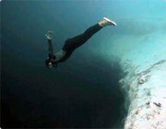 Free Fall @Dean's Blue Hole  http://www.youtube.com/watch?v=uQITWbAaDx0