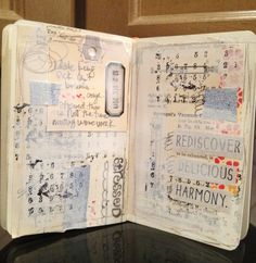 Journal Art.  Stampingbella = I really like the layers and texture on this.