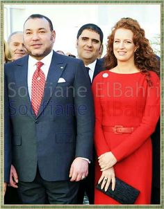 His Majesty the King Mohamed 6 of Morocco with his wife Lalla Salma