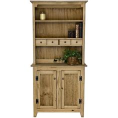 Pine 2 Door Hutch  Dream Home  Pinterest  2 Kitchen Hutch And Gorgeous Small Hutches Dining Room Design Inspiration