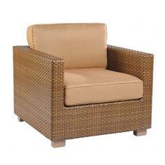 Woodard Sedona Patio Chair with Cushions Fabric: Sunbrella Beachball Bluestone