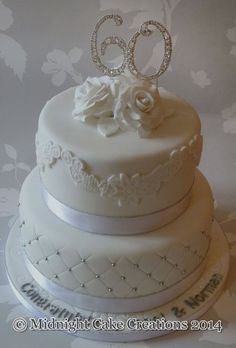 60th wedding anniversary cake - Google Search