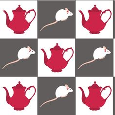 The Dormouse has a Tea Party fabric by smuk on Spoonflower - custom fabric