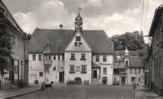 alte Postkarte - Rathaus , Rastenberg 1961