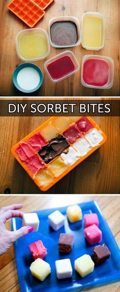 Sorbet bites! Perfect for cooling off this summer. brit-ideas-www-brit-co