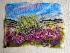 My first felt landscape. By Rosemarie Taylor
