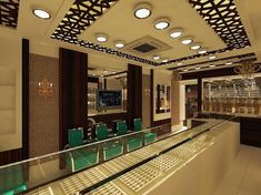 Jewellery Shop Design, Jewellery Showroom, Jewelry Shop, Jewelry Stores, Office Reception, Ceiling Design, Wardrobes, Krishna, Interior