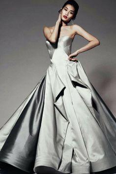 Zak Posens winter gowns