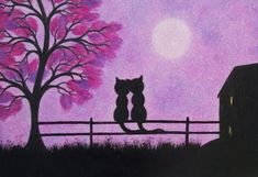 Hey, I found this really awesome Etsy listing at https://www.etsy.com/listing/221059869/cats-picture-in-frame-romantic-cats-art