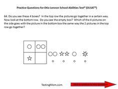 Practice OLSAT Questions for Pre-Kindergarten to Kindergarten...Otis-Lennon School Ability Test® #OLSAT
