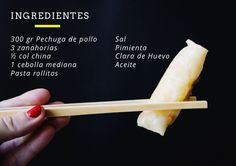 rollitos ingredientes Col China, Recipes, Breakfast Sandwiches, Asian Cuisine, Pasta Recipes, Chilean Recipes, Homemade, How To Make