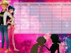 Horarios escolares/ miraculous ladybug ♡ School Name Labels, Ladybug Y Cat Noir, Adrien Y Marinette, Peppa Pig, Lady Bug, Miraculous Ladybug, Stickers, Disney, Anime