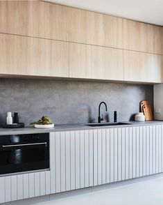 Butlers Pantry anyone?! ♀️ that timber, concrete and panelling combo is perfection Interiors by @aimeestylist for @thomasarcherhomes