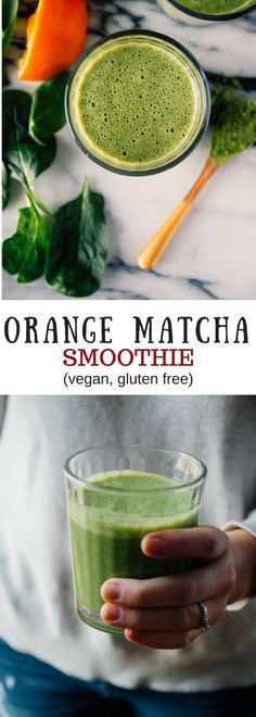 Orange and matcha come together to create a perfect cold busting matcha smoothie! (Vegan & Gluten Free!)