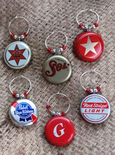 Bottle Cap #Wine Charms - recycling at work!