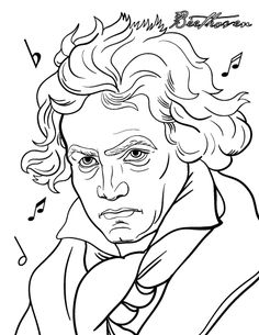 printable beethoven coloring page free pdf download at httpcoloringcafecom