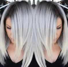 Latest Hair Color Trends New Want a new hair color? Here is a new catalog of the most beautiful hair colors that we put at your disposal to inspire you. Onbre Hair, Blonde Hair, Blonde Ombre, Blonde Roots, Lace Hair, Hair Weft, Blonde Brunette, Hair Colour Design, Silver Blonde