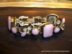 RARE Vintage Juliana D E Pink Bracelet | eBay