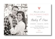 Printable Engagement Invitation by PerfectlyPrintables on Etsy, $16.00