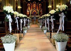 decoração de igreja pequena para casamento - Pesquisa Google