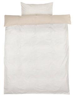 Dekbedovertrek ANDREA 140x200 zand/wit   JYSK Duvet Covers, Pattern Design, Bed Pillows, Pillow Cases, Furniture, Home, Pillows, Ad Home