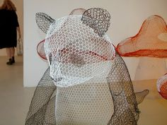Who knew that you could make this....How to Recycle: Chicken Wire Sculptures