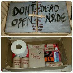 Zombie survival kit Christmas present! Walking Dead
