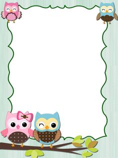 Boarder Designs, Page Borders Design, Owl Clip Art, Butterfly Clip Art, Disney Frames, Kindergarten Coloring Pages, Free Printable Stationery, Owl Theme Classroom, Boarders And Frames