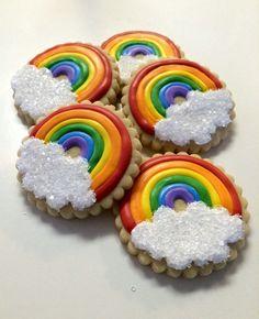 Rainbow party cookies
