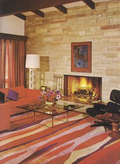 Everytime I see a room I love, it's a 70's something. Luckily I love more modern colour schemes...Vintage Home Decorating Tips 1970s