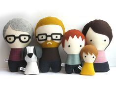 Handmade Personalized Family with Dog. by citizenscollectible