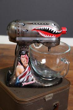 Don't show my husband. No, do. No, don't show ME. NO, DO! NO! *closes eyes* Custom painted KitchenAid Mixer