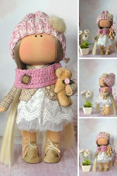 Collection doll Bambole Rag doll Puppen Muñecas Textile doll