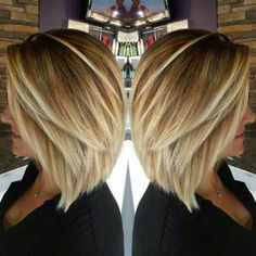 Inverted Blonde Fine Hair Bob Haircut                              …
