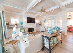 coastal-inspired family room | Strickland Homes
