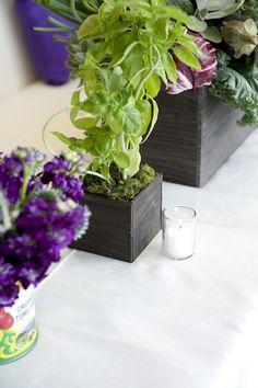 Herbs as Wedding Decor