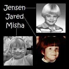 Young Jensen,Jared,Misha OMG :P