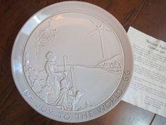 Frankoma 1966 Joy To The World Christmas Plate John Frank Bethlehem Shepherds