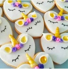 O Unicorn Cupcakes, Sugar, Cookies, Desserts, Food, Crack Crackers, Tailgate Desserts, Deserts, Biscuits