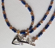 Jewelry Handmade Necklace Sapphires Sterling by Smokeylady54