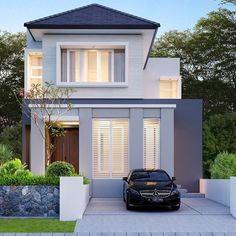 Design Your Dream House, Small House Design, Home Building Design, Building A House, Minimal House Design, Townhouse Designs, Storey Homes, Hamptons House, Dream House Exterior