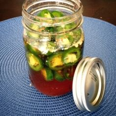 Virginia Thyme in a Manhattan Kitchen: Beer Pickled Jalapeño Peppers Pickled Jalapeno Peppers, Stuffed Jalapeno Peppers, Manhattan Kitchen, Canning Recipes, Meal Recipes, Yummy Recipes, Recipies, Good Food, Yummy Food