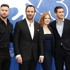 Tom Ford, Amy Adams and Jake Gyllenhaal at Nocturnal Animals Venice Photocall