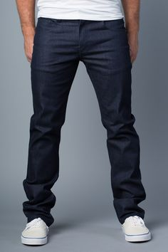 Vantage Point} Driven Slim-Straight Jeans in Delta Blue $20 ...