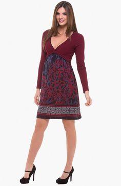 Olian V-Neck Maternity Dress available at #Nordstrom