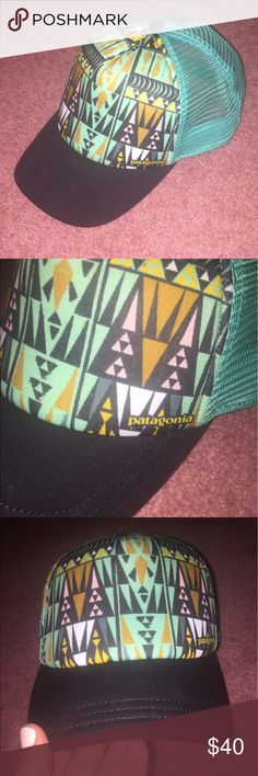 Patagonia Hat BRAND NEW/NEVER WORN Patagonia SnapBack hat. One size fits all. Teal and black. Patagonia Accessories Hats