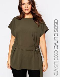 "ASOS ""Tunic D Ring Top"" in polyester, $55; asos.com"