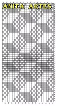 Trendy Ideas For Crochet Patterns Tapestry Knitting Charts Tapestry Crochet Patterns, Bead Loom Patterns, Weaving Patterns, Cross Stitch Patterns, Filet Crochet, Crochet Chart, Knitting Charts, Knitting Stitches, Knitting Patterns