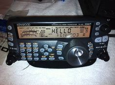 Kenwood TS-480 -- a wonderful radio that I enjoy using.  This radio even allows remote operation (you and the radio in one location; the antenna in another).
