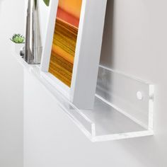 Sigel GA110 Picture Ledge Shelf for Decorative Objects, 1m, Clear Acrylic
